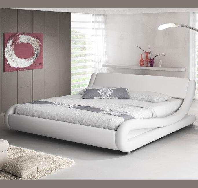 Letto de design Alessia bianco