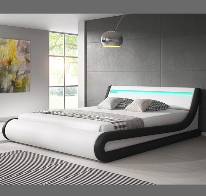 Letto Contenitore Design.Letto Contenitore Di Design Parisina In Colore Bianco Con Nero