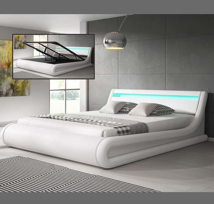 Letto Contenitore Design.Letto Contenitore Di Design Parisina In Colore Bianco 150x190cm