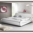 Letto di design Alessia in colore bianco (90x190cm)