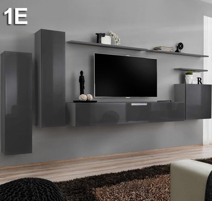 Mobile componibile Berit grigio Modello 1 E