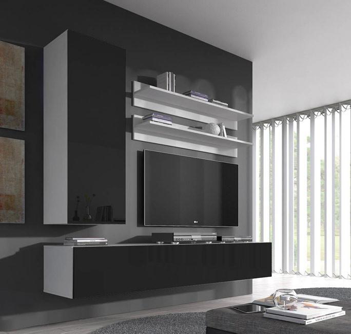 conjunto meubles nora blanco negro h1