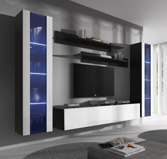 conjunto meubles nora negro blanco b2