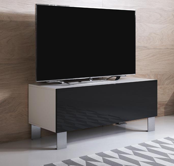 mobile-tv-luke-h1-100x30-piedini-aluminium-bianco-nero
