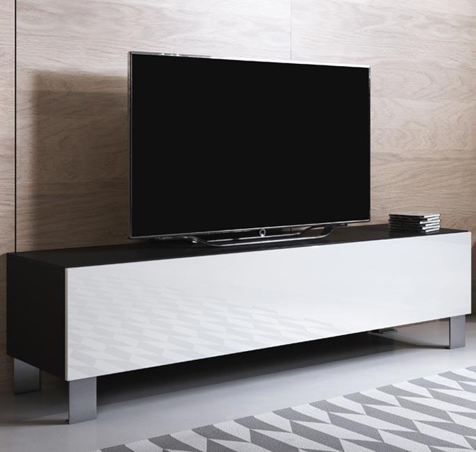 mobile-tv-luke-h2-160x30-piedini-alluminio-nero-bianco