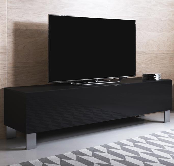 mobile-tv-luke-h2-160x30-piedini-alluminio-nero