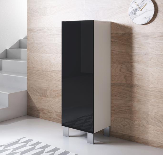 mobile-tv-luke-v1-40x126-piedini-alluminio-bianco-nero