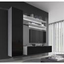 conjunto meubles nora blanco negro g1