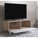 mueble-tv-luke-h1-100x30-pies-aluminio-sonoma-blanco-abierto