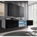 mueble tv tibi blanco negro