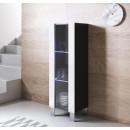 vetrinetta-luke-v2-40x126cm-piedini-alluminio-nero-bianco