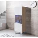 vetrinetta-luke-v3-40x126-piedini-alluminio-sonoma-bianco