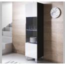 vetrinetta-luke-v6-40x165cc-piedini-alluminio-nero-bianco.