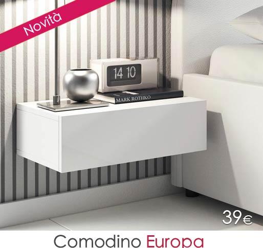 Comodino di design Europa colore bianco e nero