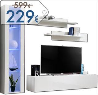 Mobili di televisione di differenti rifiniture e dimensione. Prezzo d'occasione